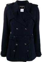 Chanel Pre Owned Chanel Pre-Owned DPEBA0818CHAJACR NAVY BLUE COTTON/WOOL/SILK