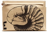 Loewe Fossil-print Canvas Pouch