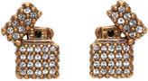 Marc Jacobs Gold Strass Lighter Earrings