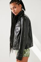 Silence & Noise Silence + Noise Selena Faux Patent Leather Trucker Jacket