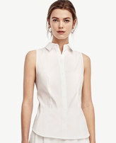 Ann Taylor Tall Sleeveless Perfect Shirt