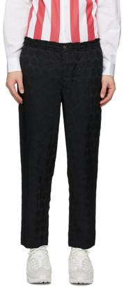 Comme des Garcons Black Jacquard Polka Dot Trousers