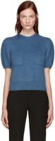 Erdem - Pull en laine bleu Jessa