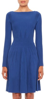 Emporio Armani Vertical Knit Long-Sleeve Dress