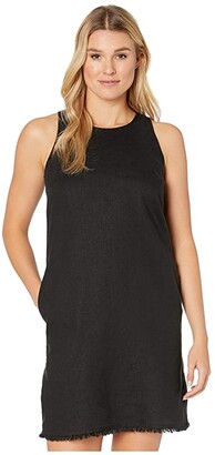 Tommy Bahama Two Palms Sleeveless Short Dress (Black) Women's Dress