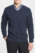 Cutter & Buck Men's 'Broadview' Cotton V-Neck Sweater