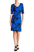 Julia Jordan Rio Knit Floral Bodycon Dress