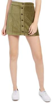 Rewash Juniors' Corduroy Button-Front Skirt
