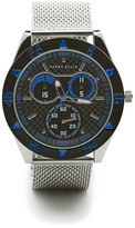 Perry Ellis Silvertone Mesh Blue Dial Watch