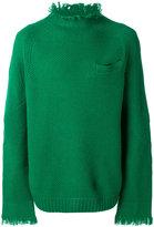 Sacai fringed oversized jumper