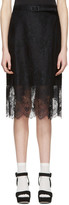 Carven Black Belted Lace Dress