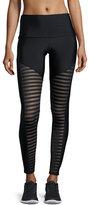 Onzie Fierce Mesh-Stripe Leggings, Black