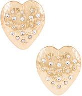 Ninon Cupid Heart Earrings in Gold | FWRD