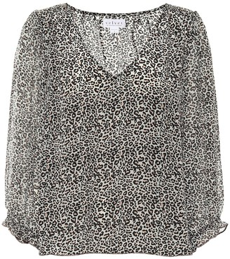 Velvet Vika leopard-print blouse