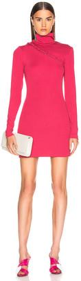 Rotate by Birger Christensen Long Sleeve Turtleneck Mini Dress in Pink | FWRD