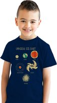 Crazy Dog T-shirts Crazy Dog Tshirts Youth Universal Size Chart T Shirt Cool Solar System Tee For Kids -S