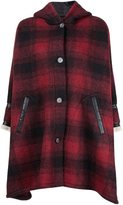 MM6 MAISON MARGIELA hooded check oversize coat