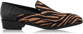 Giuseppe Zanotti Benson Patent Tiger Print Loafers