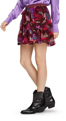 Scotch & Soda Print Ruffle Miniskirt