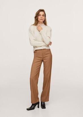 MANGO Textured sweater ecru - XS - Women