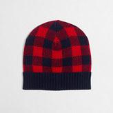 J.Crew Factory Boys' buffalo check hat