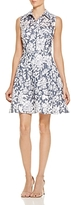 Betsey Johnson Floral & Grid Burnout Dress