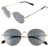 Sonix Women's Ace 51Mm Round Sunglasses - Gold Wire/ Black Solid