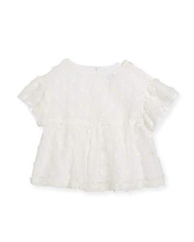 Milly Lindy Daisy-Embroidery Blouse, Size 4-7