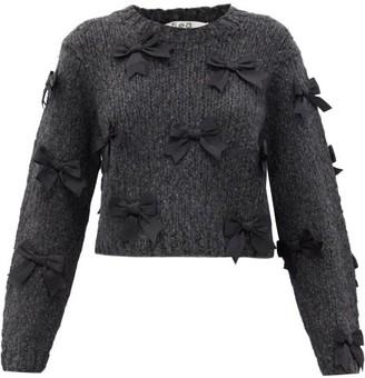 Sea Bow-embellished Sweater - Grey