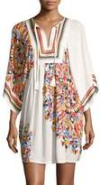 Tory Burch Geometric Embroidered Tunic