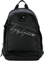 Yohji Yamamoto logo embroidered backpack - men - Polyamide - One Size
