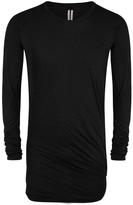 Rick Owens Black Twisted Cotton Top