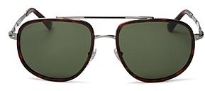 Persol Men's Polarized Aviator Sunglasses, 57mm