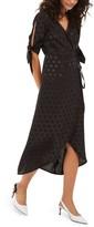 Topshop Women's Jacquard Wrap Midi Dress