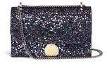 Jimmy Choo Finley' coarse glitter chain crossbody bag