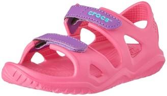 Crocs Unisex Kids' Swiftwater River Sandal Open Toe (Paradise Pink/Amethyst 60o) 8 UK Child 24/25 EU