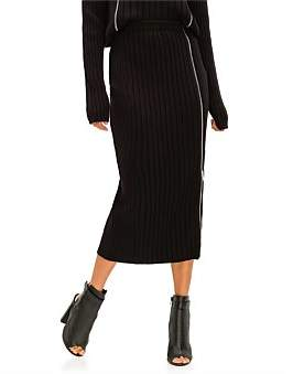 Palm Angels Zipped Knit Pencil Skirt