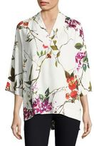 Escada Narineta Printed V-Neck Blouse