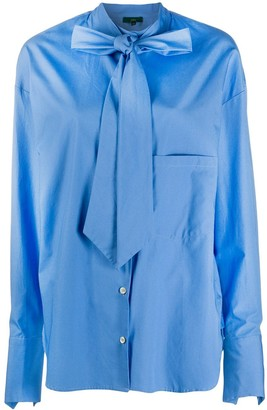 Jejia Pussy-Bow Cotton Shirt