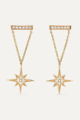 Sydney Evan 14-karat Gold Diamond Earrings - one size