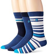 Timberland Men's 3 Pack Striped Crew Sock