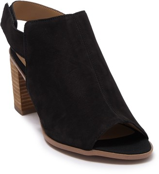 Franco Sarto Helix Leather Peep Toe Sandal