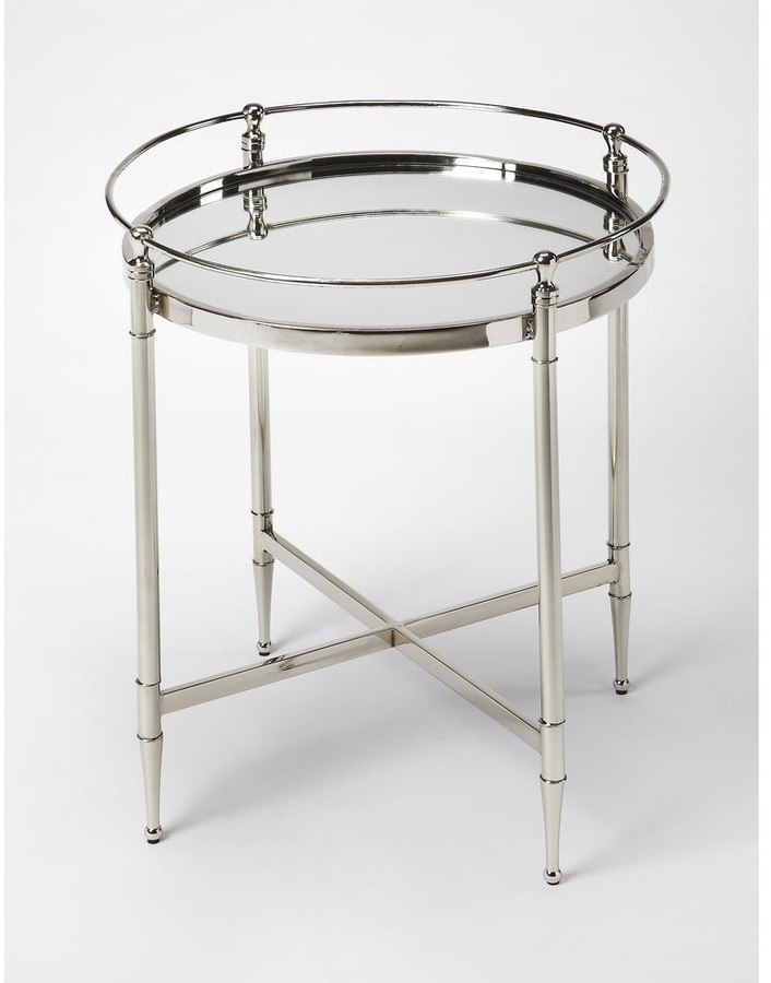 Thumbnail for your product : Butler Handmade Crosby Metal and Mirror End Table