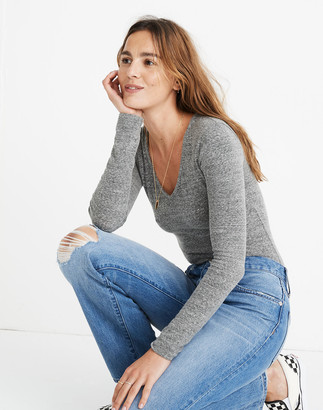 Madewell V-Neck Full-Coverage Bodysuit