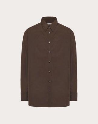 Valentino Semi Oversized Shirt Man Brown 40