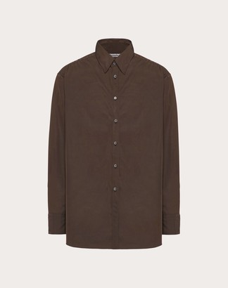 Valentino Semi Oversized Shirt Man Brown 41