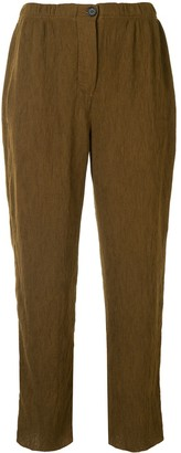 Raquel Allegra Pleated Straight-Leg Trousers
