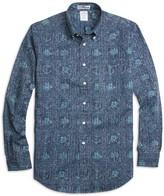 Brooks Brothers Regent Fit Nautical Print Sport Shirt