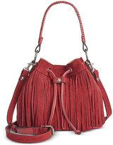 Patricia Nash Suede Fringe Elisa Bucket Bag