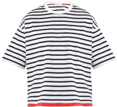 TOMORROWLAND Striped cotton-jersey T-shirt